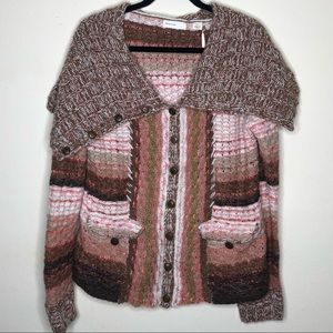 ANTHROPOLOGIE Sleeping on Snow Knit Sweater